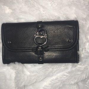 Juicy Black large wallet pebble leather